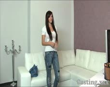Casting HD Cute brunette gets creampie in casting