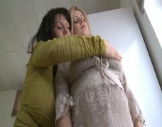 pregnant - 2 women = 4 big BIG boobs