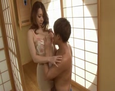 A sexy Japanese Mother fucked by her son