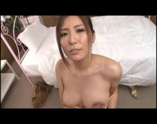 Hot asian Japanese girl sucking a rod dick and fucking her boobs