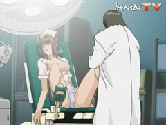 Hentai doctor uses his massive dick on one of his nurses