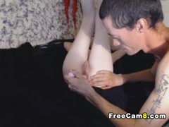 Horny Skinny Chick Hard Pussy and Anal Toying