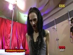 Skinny Brunette Extreme Piss Lover - 666Bukkake