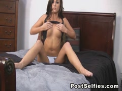 Charming Hot Brunette Enjoying Playing Her Pussy