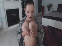 Mom Sucking Her Big Bouncing Tits