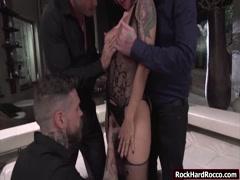 Slut Malena fucked by three lucky dudes