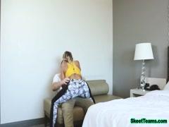 SkeetTeams - Busty Teen Rides Hard Penis