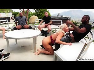 Huge tits Milf rough orgy fucked