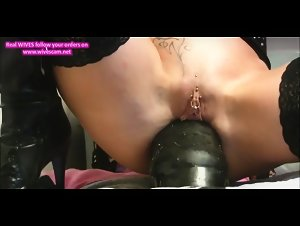 Amazing filthy Amazing huge dildo